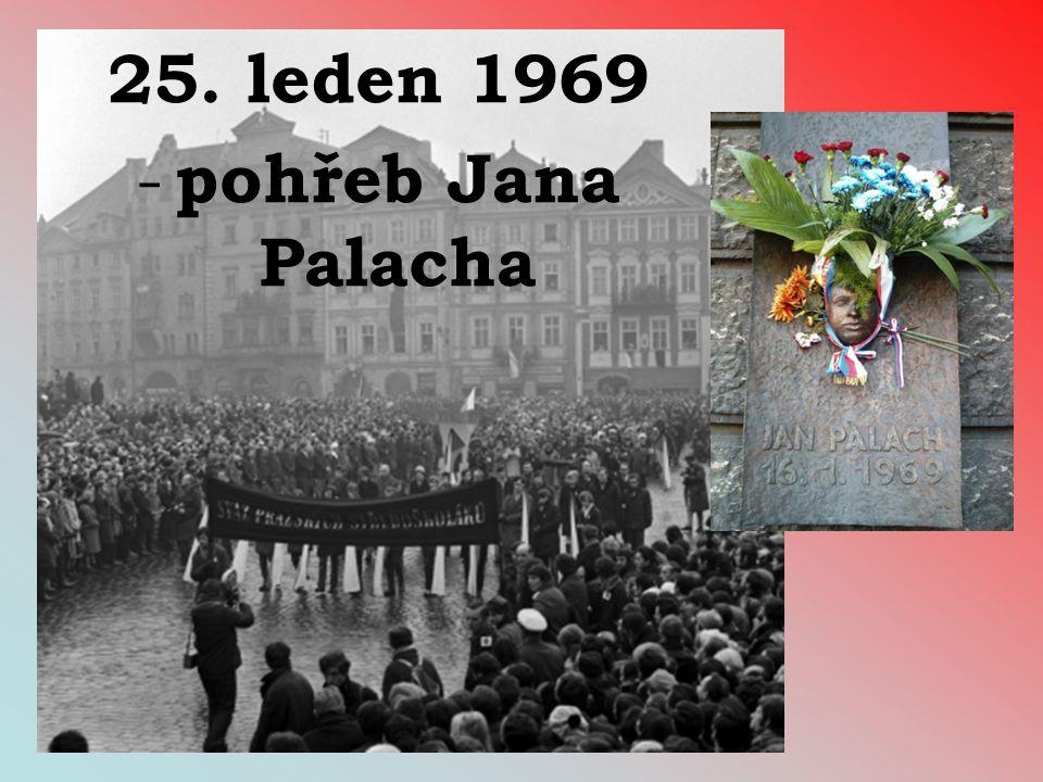 25. leden 1969 - pohřeb Jana Palacha