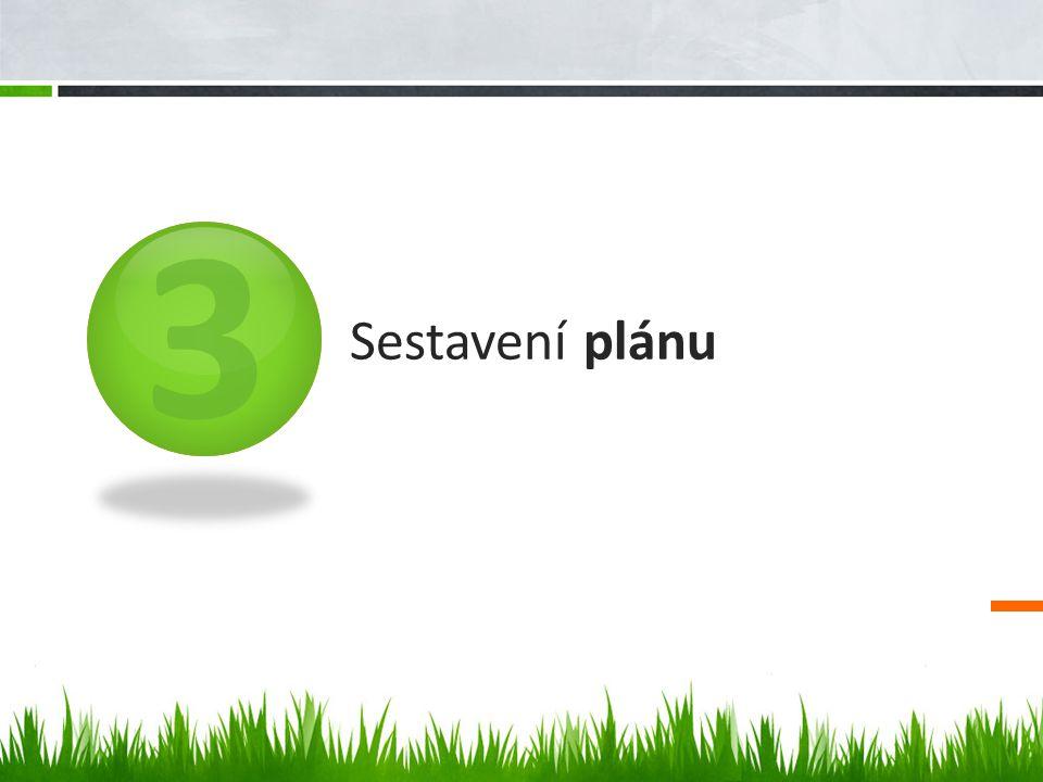 3 Sestavení plánu
