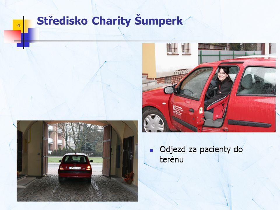 4 Středisko Charity Šumperk  Odjezd za pacienty do terénu