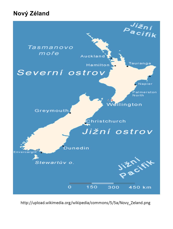 3.) hospodářství · vyspělý průmyslově-zemědělský stát · podle osnovy porovnejte s Austrálií: - mnohem méně nerostných surovin - způsob výroby energie ( hydroelektrárny, geotermální el.) – výroba hliníku, umělých hmot - odlišné přírodní podmínky, velikost farem - živočišná výroba převládá nad rostlinnou - zaměření výroby více na ovce na maso, skot na mléko, zpracování zemědělských produktů - ovoce (světový vývozce kiwi, jablek,..), pšenice · obchodními partneři: Austrálie, Japonsko, USA, EU, VB