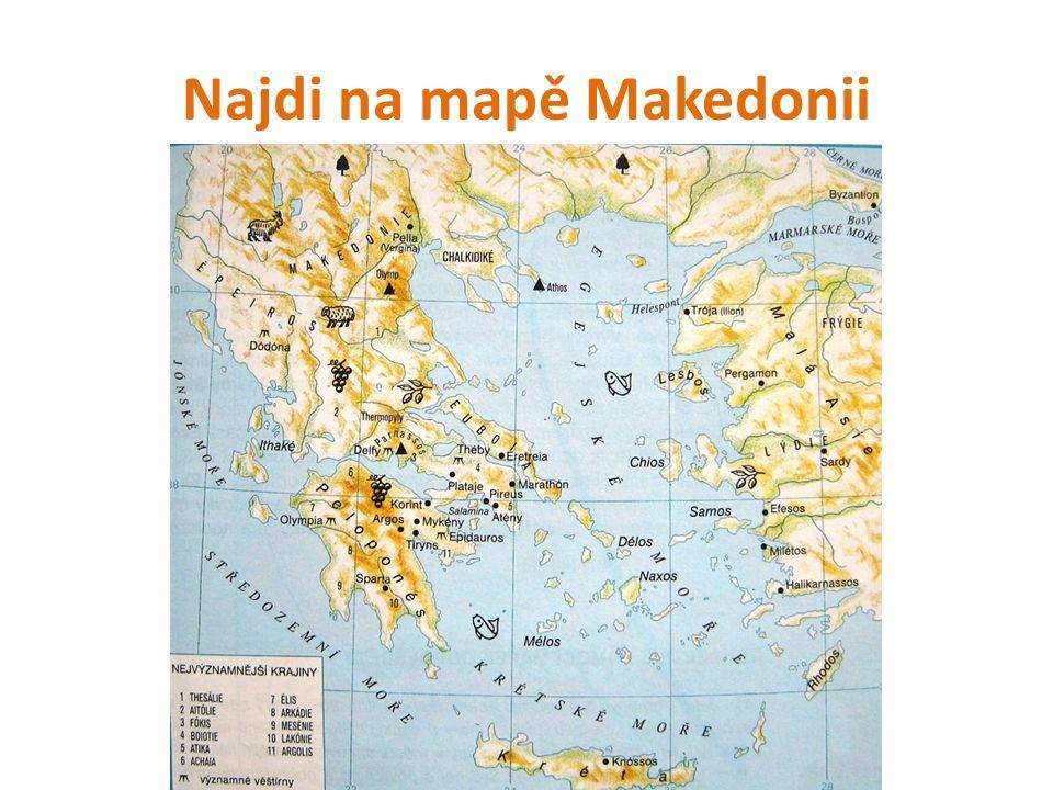 Najdi na mapě Makedonii