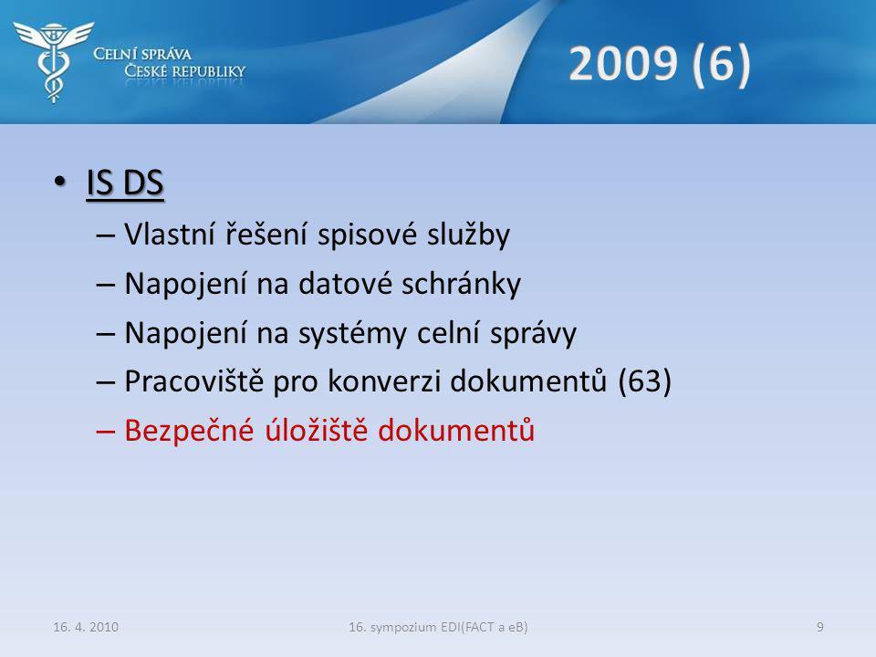 16. sympozium EDI(FACT a eB)10