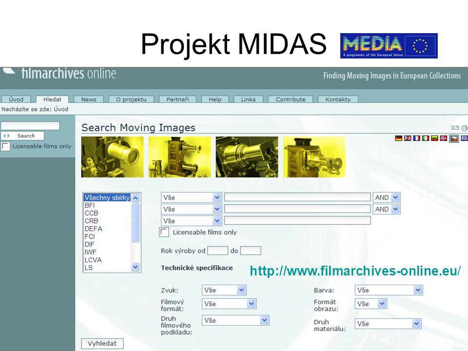 Projekt MIDAS http://www.filmarchives-online.eu/