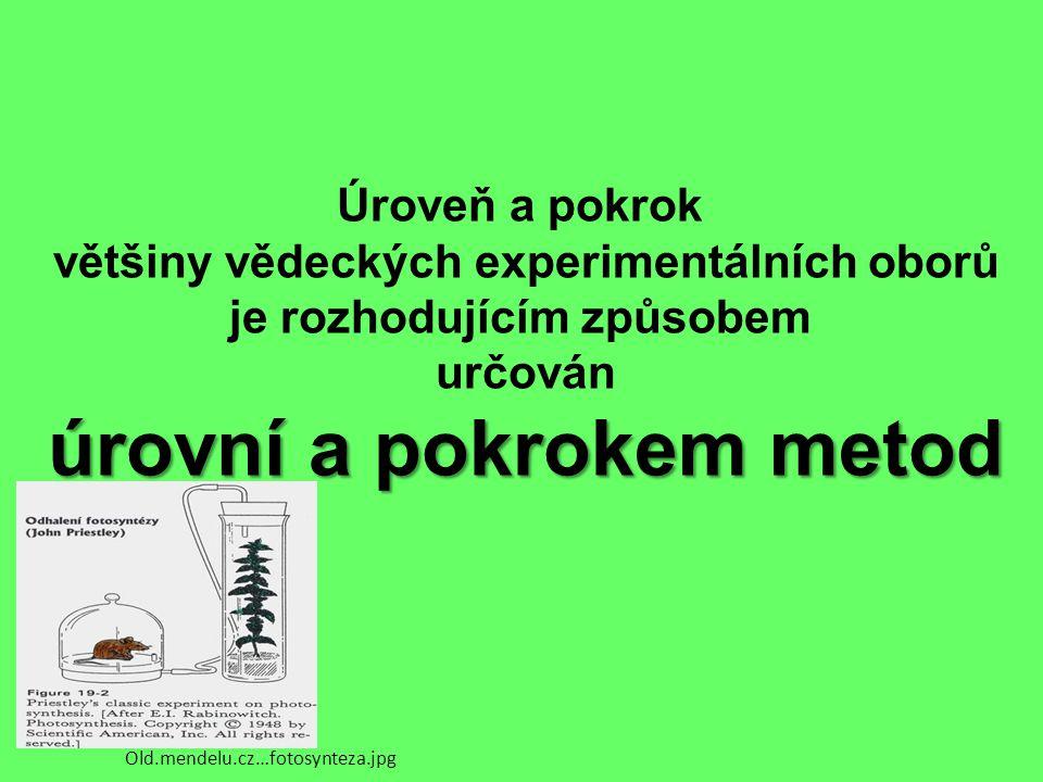 Úroveň a pokrok většiny vědeckých experimentálních oborů je rozhodujícím způsobem určován úrovní a pokrokem metod Old.mendelu.cz…fotosynteza.jpg