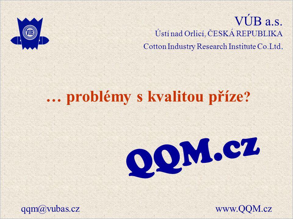 VÚB a.s. Ústí nad Orlicí, ČESKÁ REPUBLIKA Cotton Industry Research Institute Co.Ltd.
