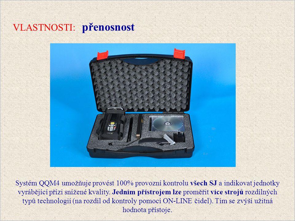 Systém QQM4 umožňuje provést 100% provozní kontrolu všech SJ a indikovat jednotky vyrábějící přízi snížené kvality.