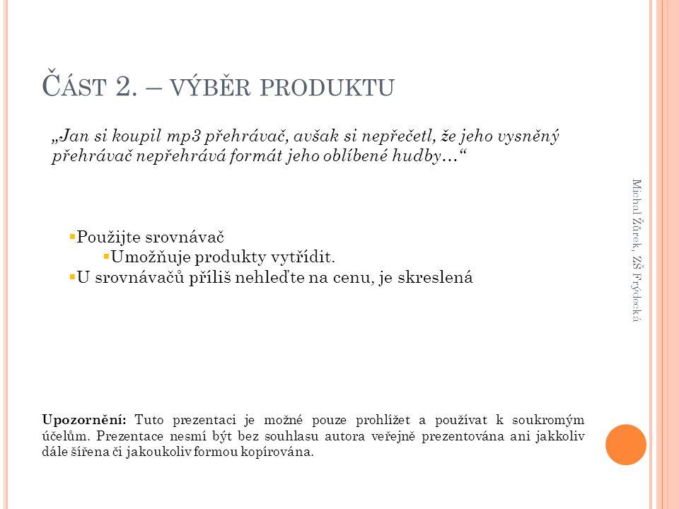 Upozornění: Tuto prezentaci je možné pouze prohlížet a používat k soukromým účelům.