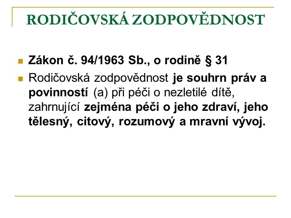 Zanedbání povinného dohledu  140/1961 Sb.