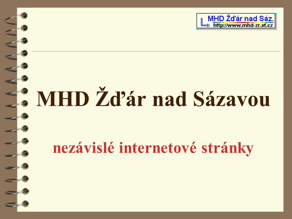MHD Žďár nad Sázavou nezávislé internetové stránky