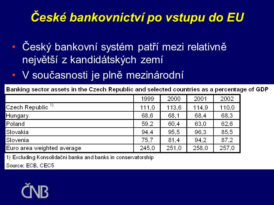 Budoucí uspořádání dohledu v ČR •V první fázi mohou být relativně snadno konstituovány dvě dozorové instituce (ČNB a KCP) s rozšířenou působností •V delším období dojde k legislativně náročnému spojení do jedné instituce.