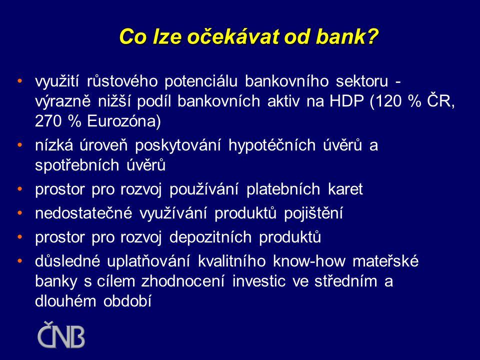 Co lze očekávat od bank?