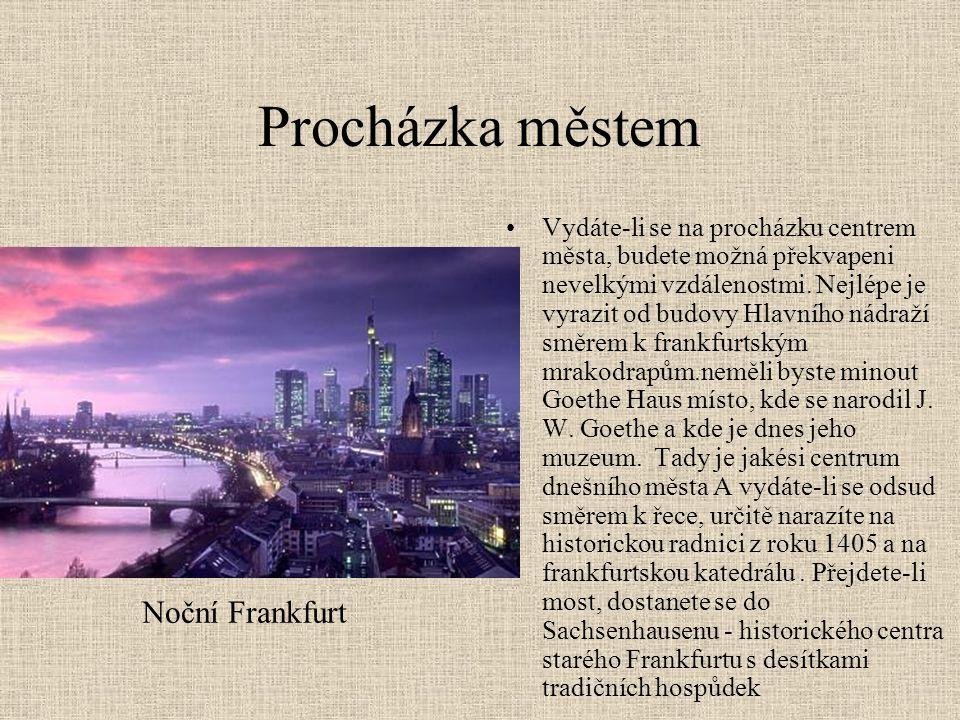 Sport •Ve Frankfurtu se můžete bavit i sportem, frankfurtští hokejisté jsou mistři 1.hokejové ligy.