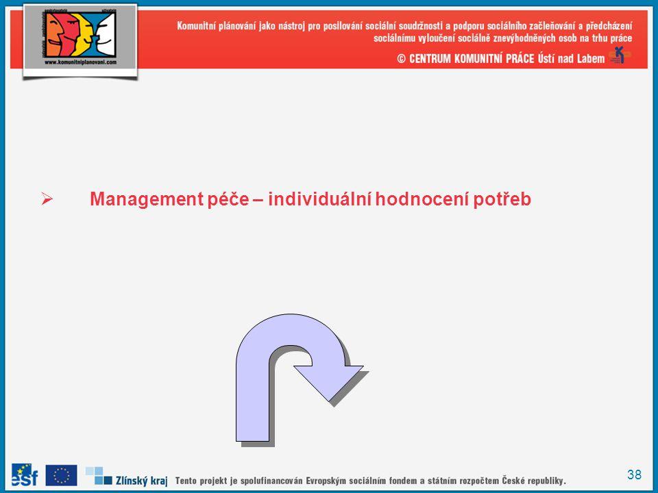 38  Management péče – individuální hodnocení potřeb