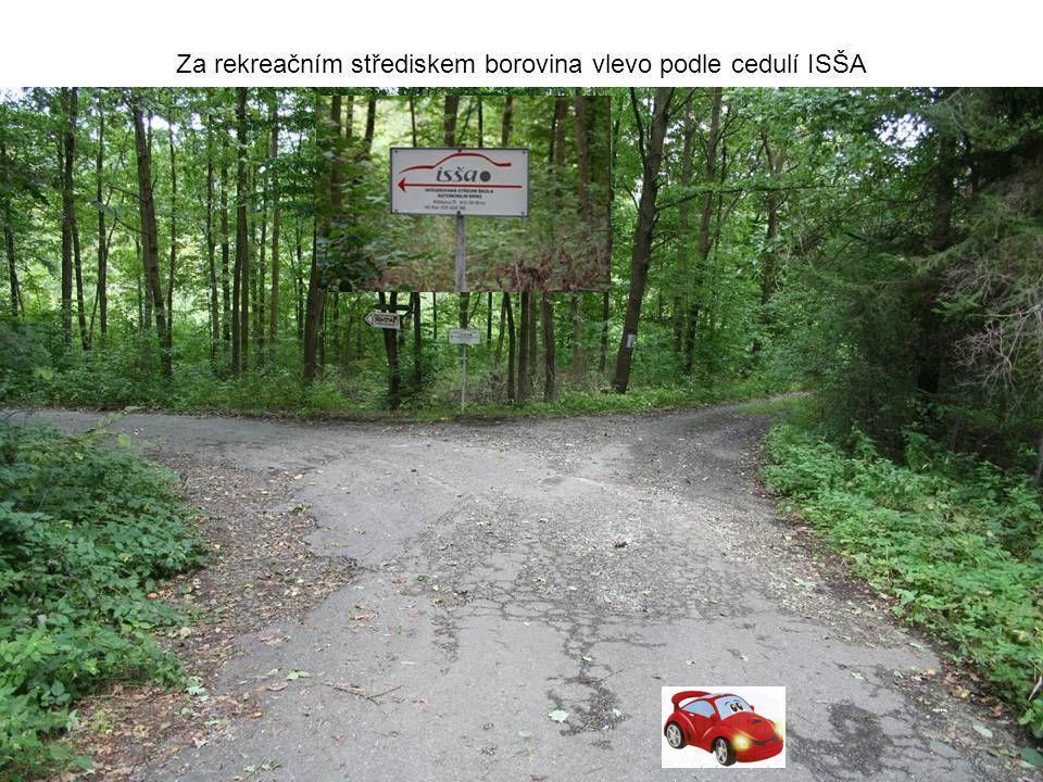 Za rekreačním střediskem borovina vlevo podle cedulí ISŠA