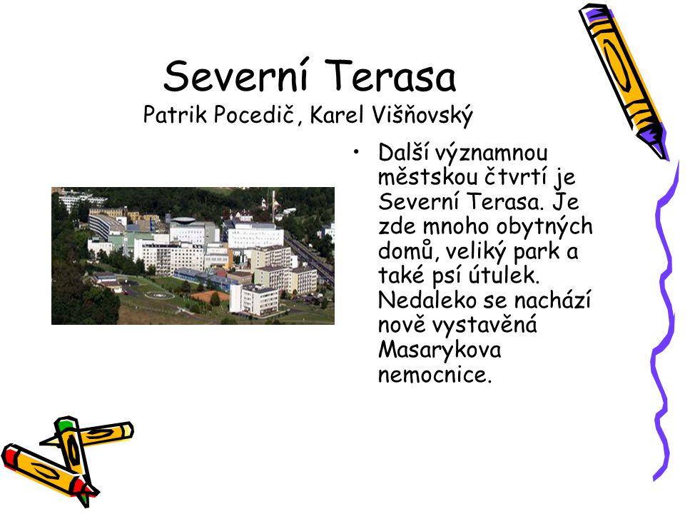 Severní Terasa Patrik Pocedič, Karel Višňovský •Další významnou městskou čtvrtí je Severní Terasa. Je zde mnoho obytných domů, veliký park a také psí