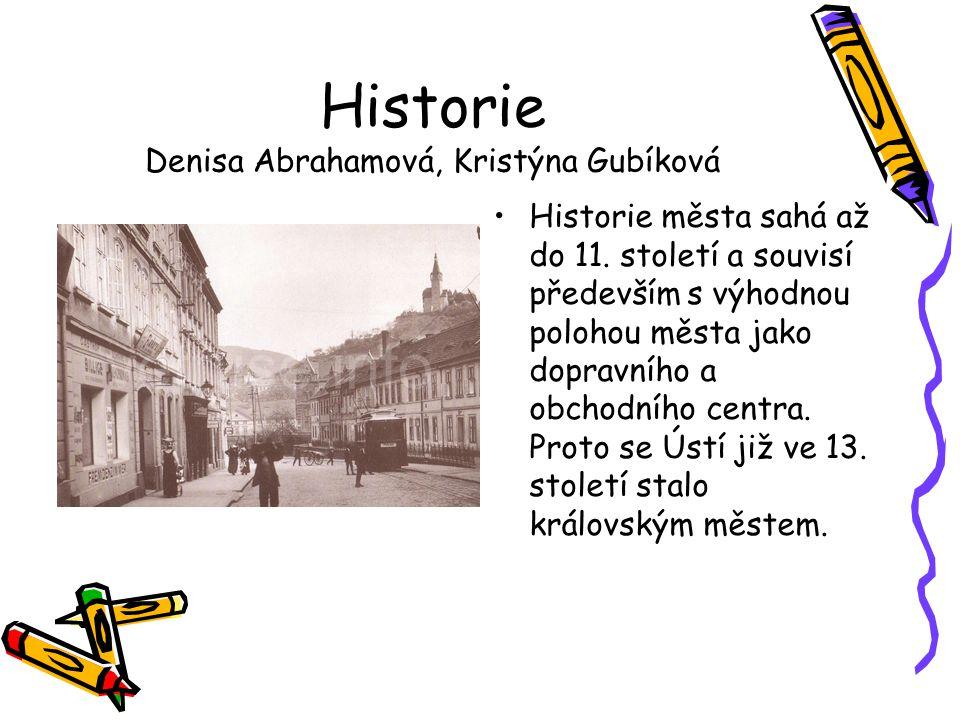 Historie Denisa Abrahamová, Kristýna Gubíková •Historie města sahá až do 11. století a souvisí především s výhodnou polohou města jako dopravního a ob