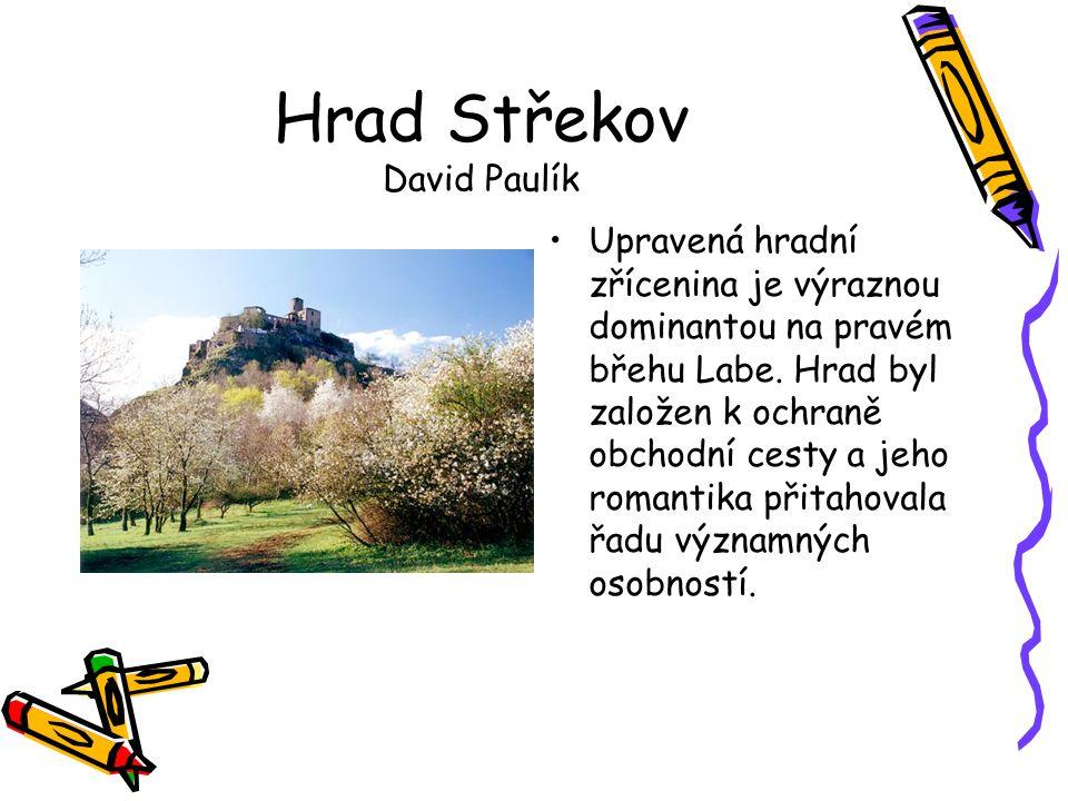 Hrad Střekov David Paulík •Upravená hradní zřícenina je výraznou dominantou na pravém břehu Labe. Hrad byl založen k ochraně obchodní cesty a jeho rom