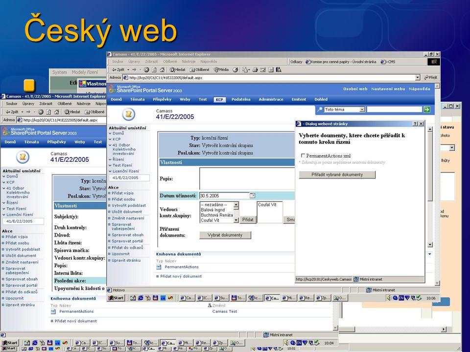 Editace Workflow Editace ad hoc akce Editace vlastnosti akce Seznam licenčních řízení Náhled na řízení Přechod do dalšího kroku