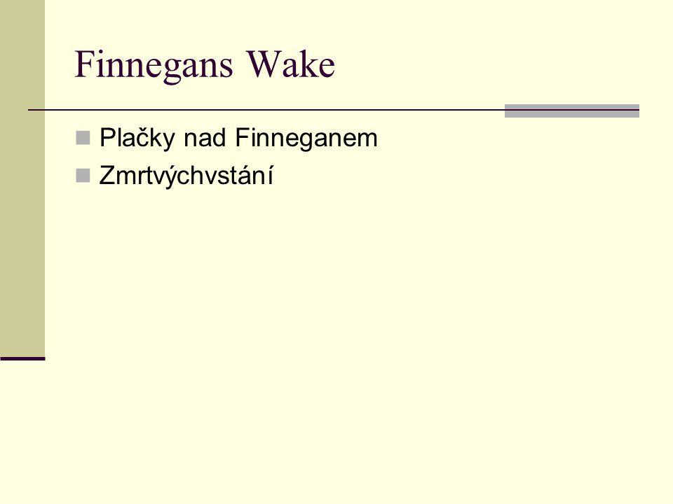 Finnegans Wake  Plačky nad Finneganem  Zmrtvýchvstání
