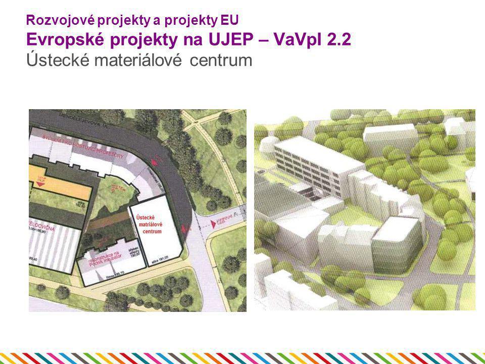 Rozvojové projekty a projekty EU Evropské projekty na UJEP – VaVpI 2.2 Ústecké materiálové centrum