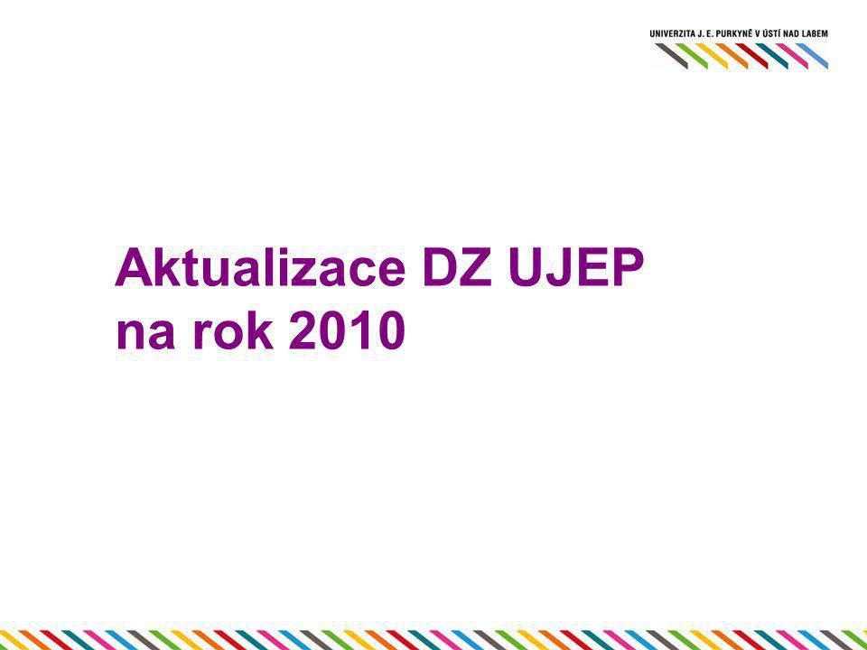 Aktualizace DZ UJEP na rok 2010