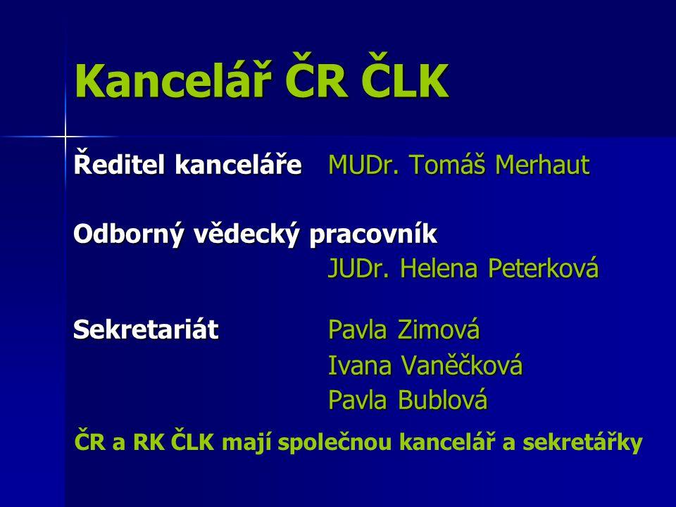 Kancelář ČR ČLK Kancelář ČR ČLK Ředitel kancelářeMUDr.