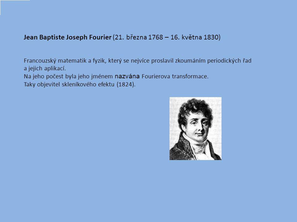 Fourierův rozvoj (Fourierova transformace) umožňuje modelovat jakoukoli periodickou změnu, stačí vzít v úvahu dostatečný počet členů: y = A0 + A1.