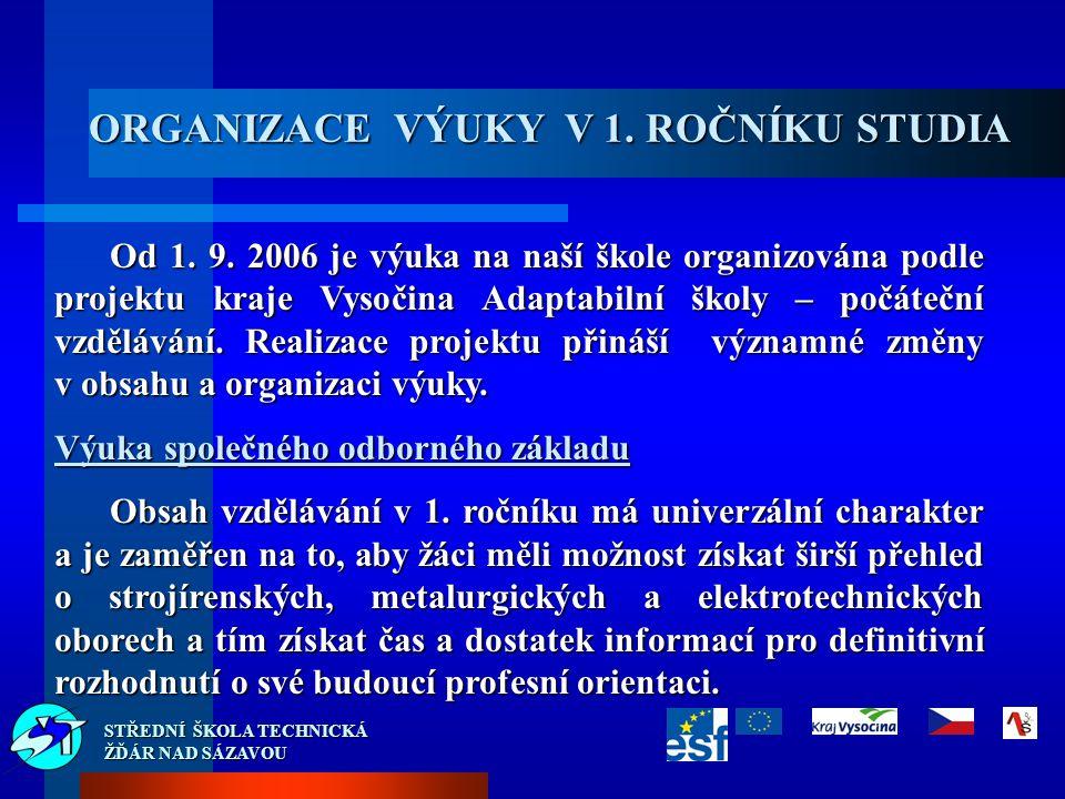 Od 1. 9. 2006 je výuka na naší škole organizována podle projektu kraje Vysočina Adaptabilní školy – počáteční vzdělávání. Realizace projektu přináší v