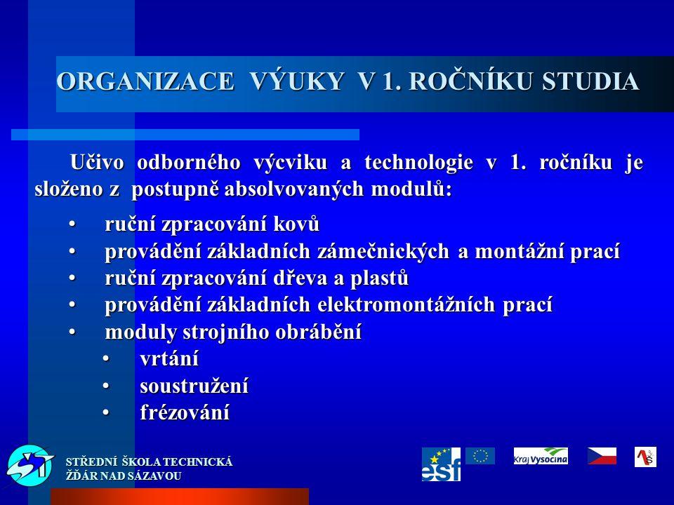 STŘEDNÍ ŠKOLA TECHNICKÁ ŽĎÁR NAD SÁZAVOU Učivo odborného výcviku a technologie v 1.
