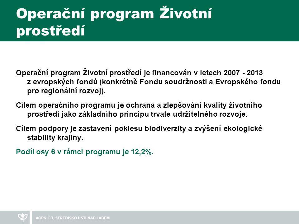 Operační program Životní prostředí Operační program Životní prostředí je financován v letech 2007 - 2013 z evropských fondů (konkrétně Fondu soudržnosti a Evropského fondu pro regionální rozvoj).