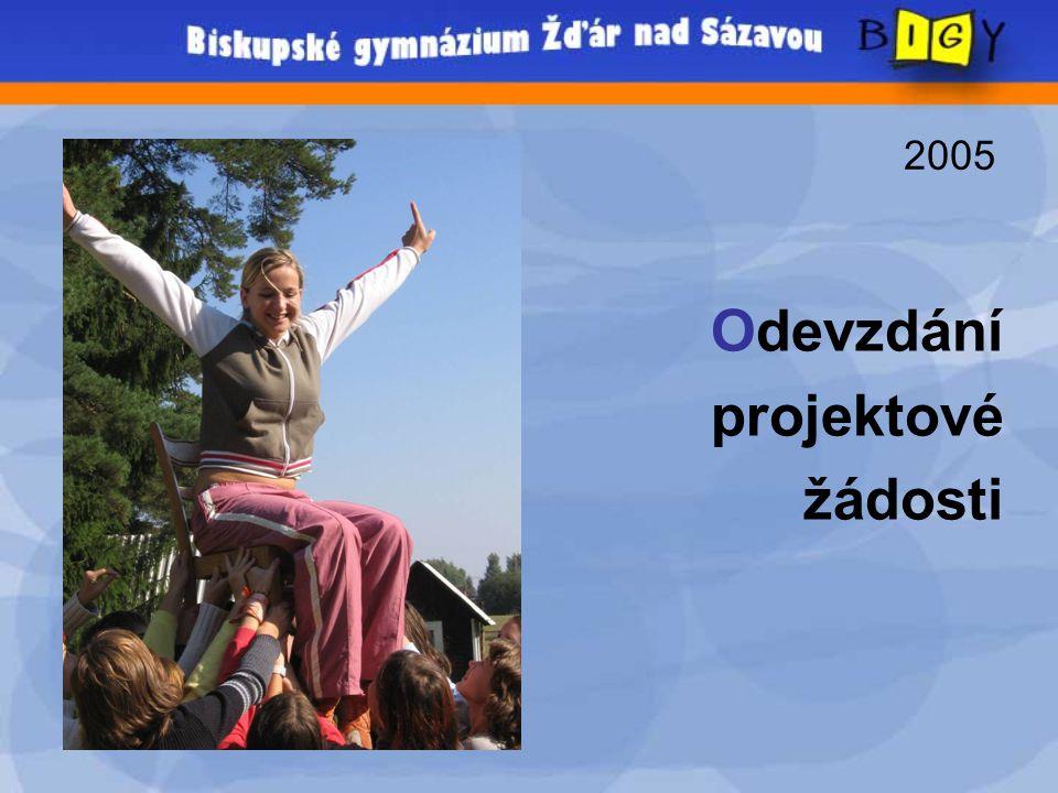 2005 Odevzdání projektové žádosti