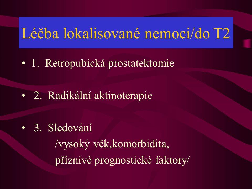 Léčba lokalisované nemoci/do T2 •1.Retropubická prostatektomie • 2.
