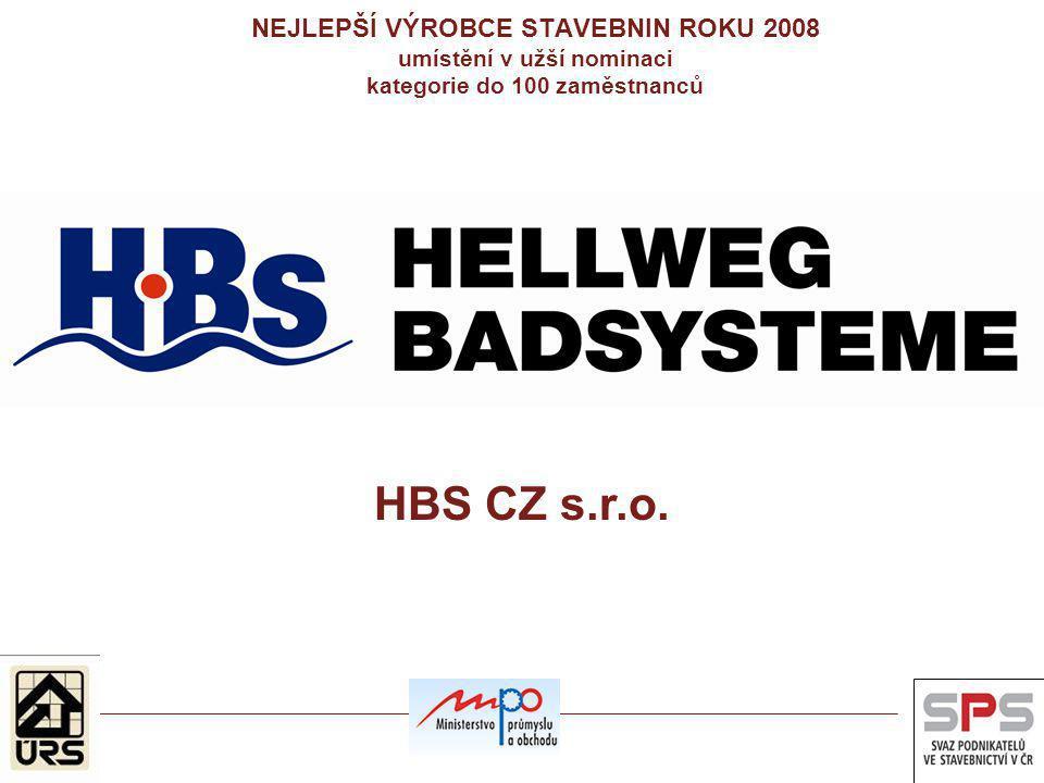 NEJLEPŠÍ VÝROBCE STAVEBNIN ROKU 2008 umístění v užší nominaci kategorie do 100 zaměstnanců HBS CZ s.r.o.