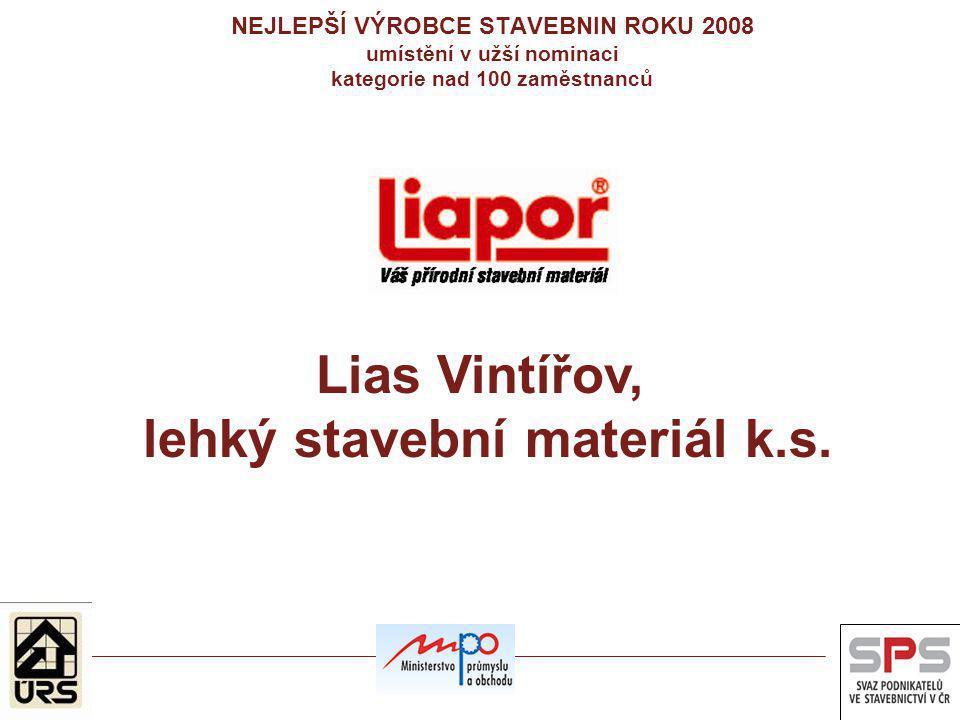 Lias Vintířov, lehký stavební materiál k.s.