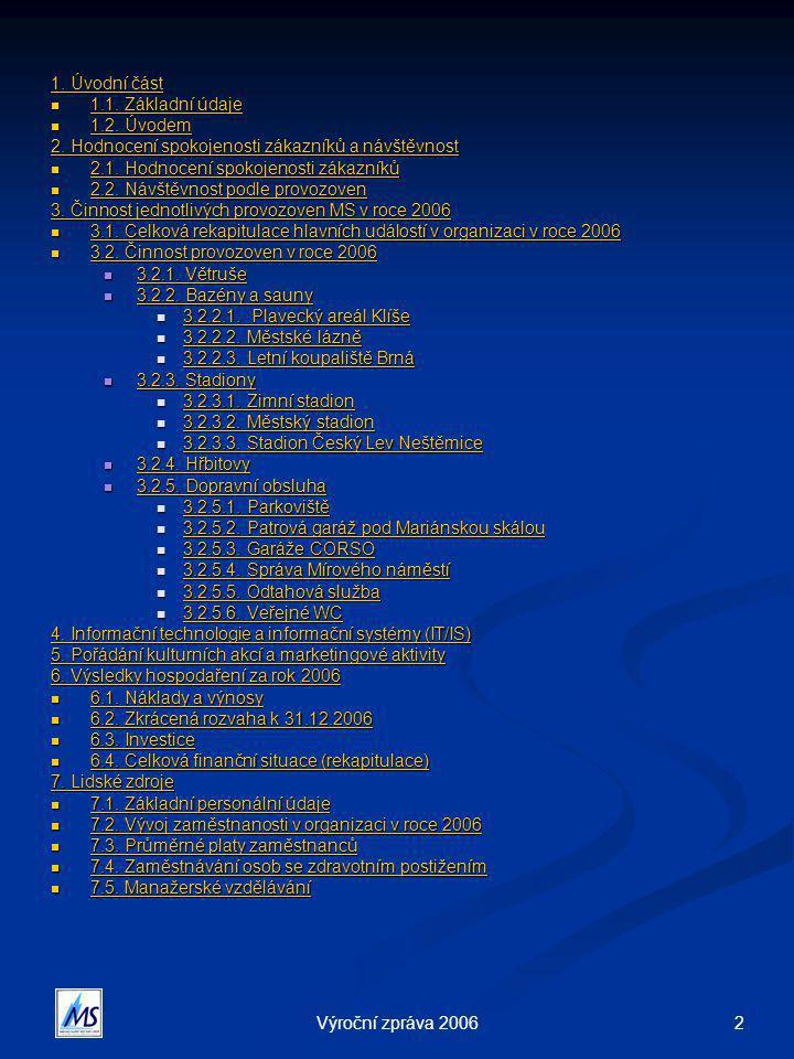 2Výroční zpráva 2006 1.Úvodní část 1. Úvodní část  1.1.