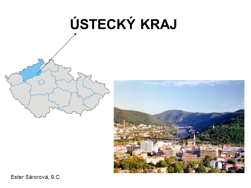 Základní informace •rozloha: 5 335 km2 počet obyvatel: 843 462 obyvatel hustota osídlení: 158 obyvatel/km2 krajské město: Ústí nad Labem (93 859 obyvatel) nejvyšší bod: Macecha (1 113 m.n.m.) nejnižší bod: Hřensko (115 m.n.m.) oficiální internetová adresa kraje: http://www.kr-ustecky.cz/ http://www.kr-ustecky.cz/