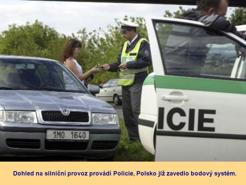 Dohled na silniční provoz provádí Policie, Polsko již zavedlo bodový systém.