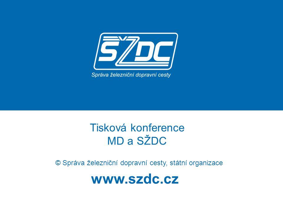 www.szdc.cz © Správa železniční dopravní cesty, státní organizace Tisková konference MD a SŽDC