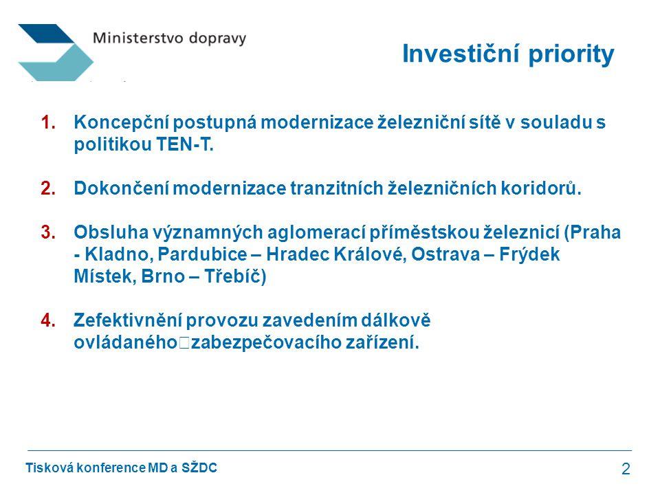 Tisková konference MD a SŽDC Optimalizace trati Praha Bubeneč – Praha Holešovice 13 Termín realizace09/2012 – 07/2014 Hodnota zakázky1 088 mil.