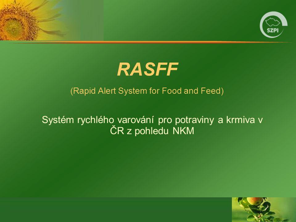 RASFF (Rapid Alert System for Food and Feed) Systém rychlého varování pro potraviny a krmiva v ČR z pohledu NKM