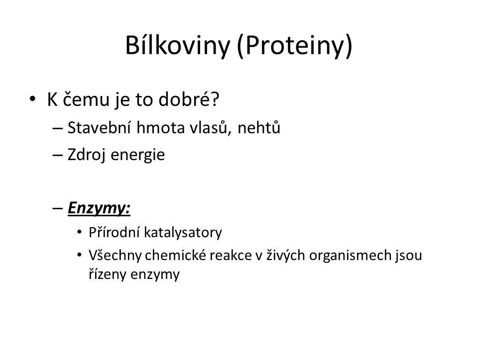 Bílkoviny (Proteiny) • K čemu je to dobré.