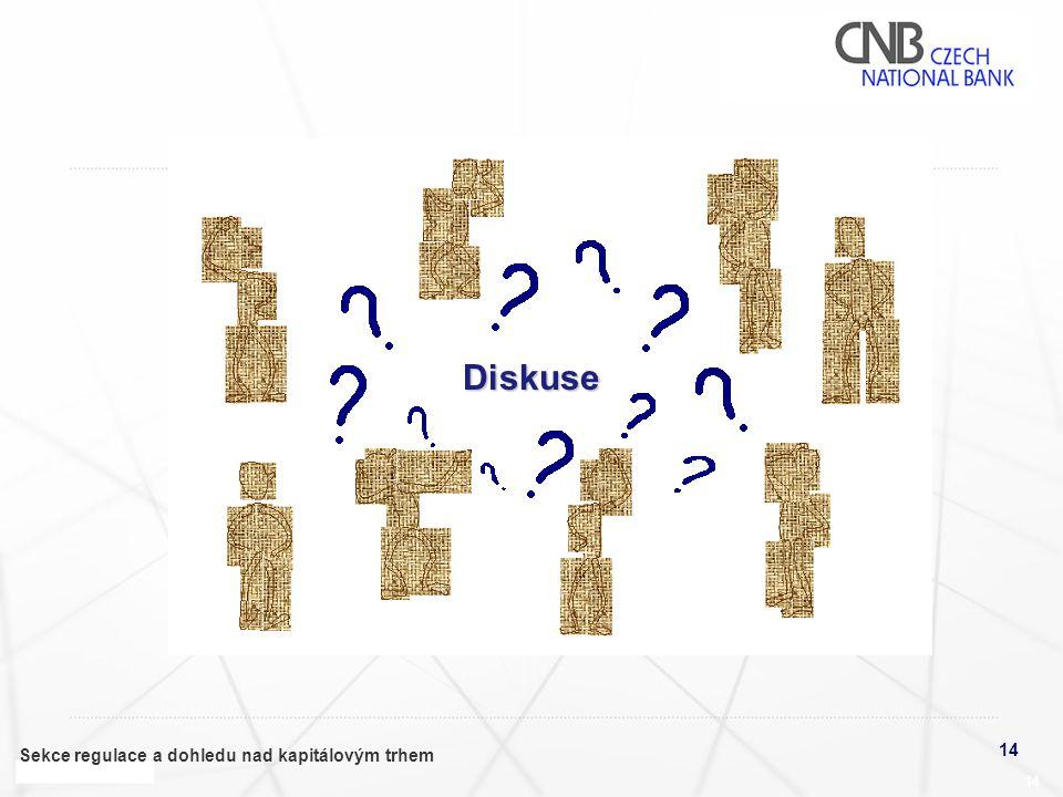 14 Sekce regulace a dohledu nad kapitálovým trhem 14 Diskuse
