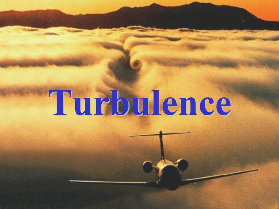 b)při vlétnutí do zóny turbulence snížit rychlost letu tak, aby daný typ letounu byl co nejstabilnější, protože změna přetížení je úměrná rychlosti letu; Zásady překonávání oblastí s turbulencí