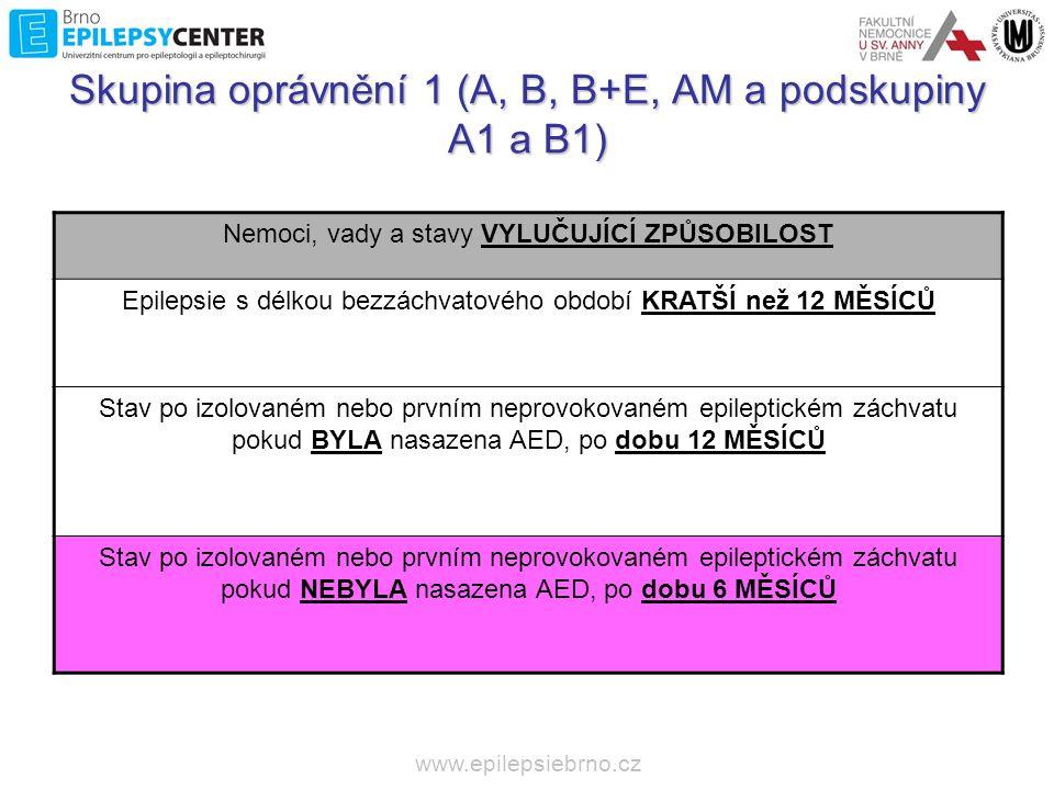 www.epilepsiebrno.cz 6M bez AED •Dosud nebylo podle čeho posuzovat •Symptomatické záchvaty.