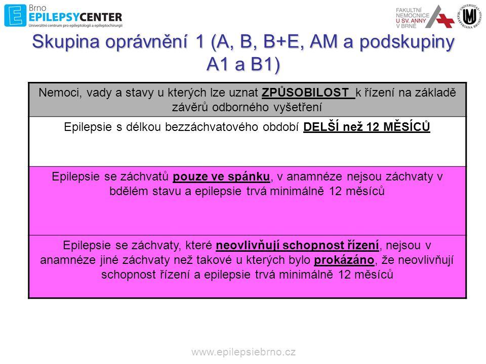 """www.epilepsiebrno.cz Záchvaty ve spánku •Noční FLE •Neumožňuje přiznat způsobilost pacientům, kteří měli denní záchvaty (není v EU) Záchvaty, které neovlivňují schopnost řízení •Aury, SPS •……….""""bylo prokázáno ………………"""