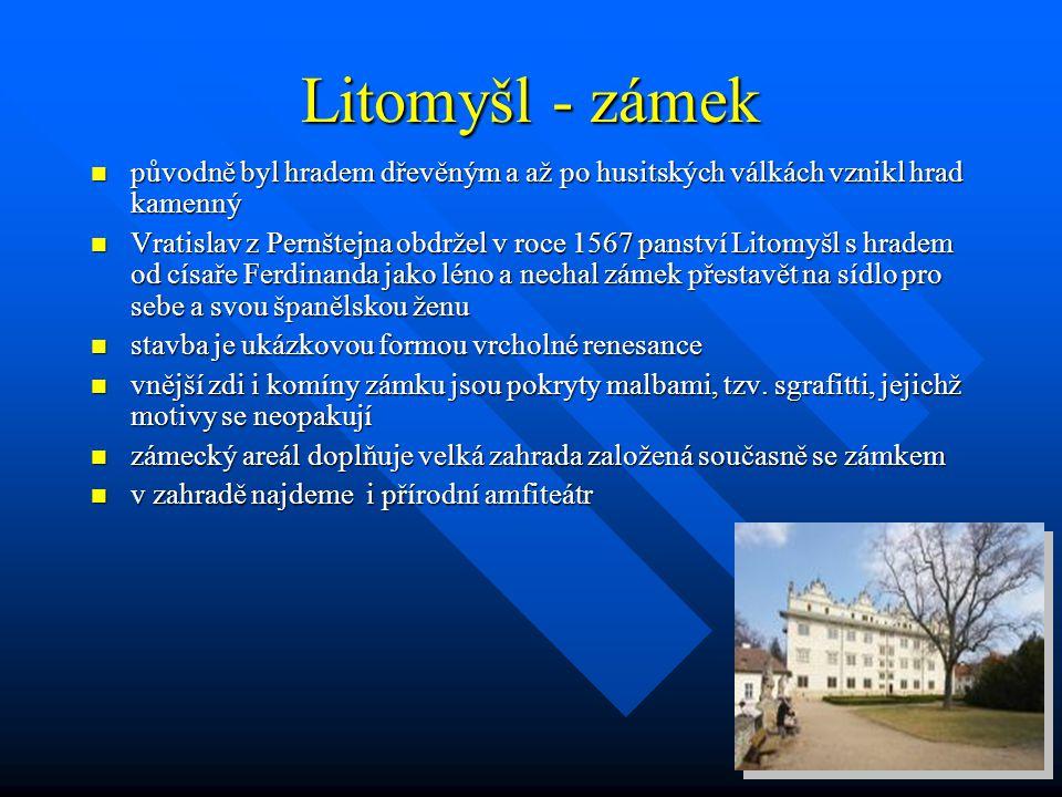 Zámek Letohrad  Raně barokní zámek je již dlouho dominantou města Lanškroun. Sídlí v něm hotel, restaurace, soukromé gymnázium, Městská knihovna a Zá