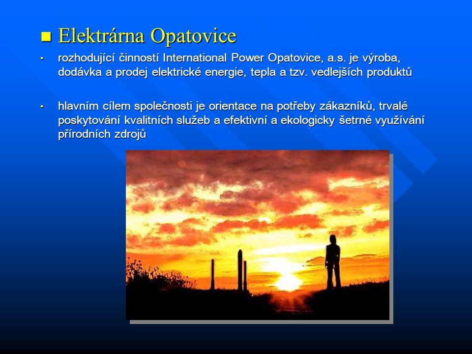  Elektrárna Opatovice • rozhodující činností International Power Opatovice, a.s.