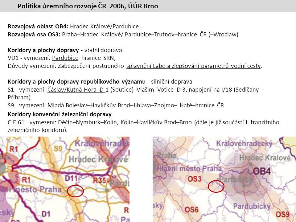Územní plán velkého územního celku Střední Polabí, 2006 Přílohy: 1.