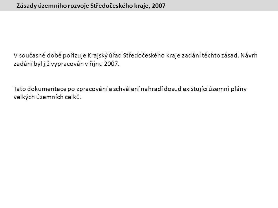 Zásady územního rozvoje Středočeského kraje, 2007 V současné době pořizuje Krajský úřad Středočeského kraje zadání těchto zásad.