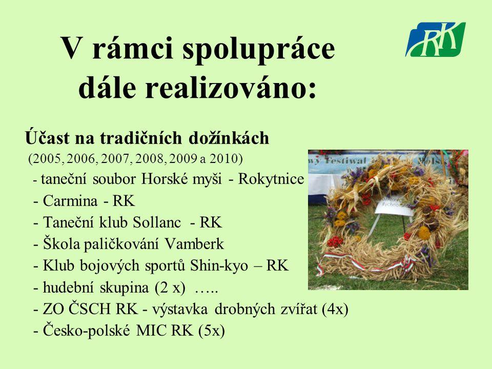 Účast na tradičních dožínkách (2005, 2006, 2007, 2008, 2009 a 2010) - taneční soubor Horské myši - Rokytnice - Carmina - RK - Taneční klub Sollanc - R